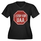 UAA Women's Plus Size V-Neck Dark T-Shirt