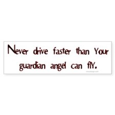 Guardian angel.. Bumper Bumper Sticker