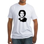 Michelle Obama screenprint Fitted T-Shirt
