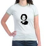 Michelle Obama screenprint Jr. Ringer T-Shirt