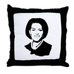 Michelle Obama screenprint Throw Pillow