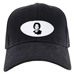 Michelle Obama screenprint Black Cap