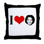 I Heart Michelle Obama Throw Pillow