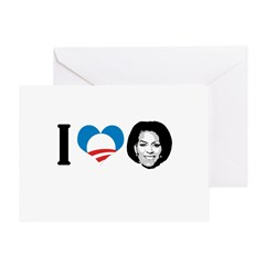 I Love Michelle Obama Greeting Card