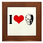I heart Joe Biden Framed Tile