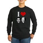 I Heart Obama Biden Long Sleeve Dark T-Shirt