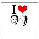 I Heart Obama Biden Yard Sign