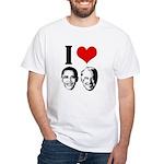 I Heart Obama Biden White T-Shirt