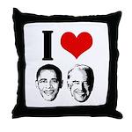 I Heart Obama Biden Throw Pillow