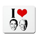 I Heart Obama Biden Mousepad