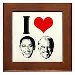 I Heart Obama Biden Framed Tile