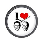 I Heart Obama Biden Wall Clock