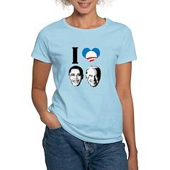 I Love Obama Biden Women's Light T-Shirt