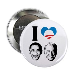 "I Love Obama Biden 2.25"" Button (10 pack)"