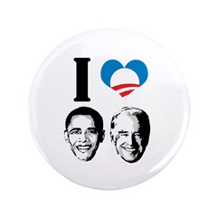 "I Love Obama Biden 3.5"" Button (100 pack)"