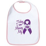 Missing My Dad 1 PURPLE Bib