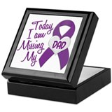 Missing My Dad 1 PURPLE Keepsake Box