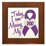 Missing My Dad 1 PURPLE Framed Tile