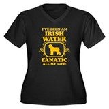 Irish Water Spaniel Women's Plus Size V-Neck Dark