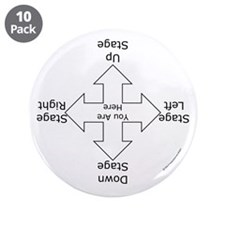 "Stage Directions 3.5"" Button (10 pack)"