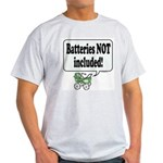 Batteries Not Included -  Ash Grey T-Shirt