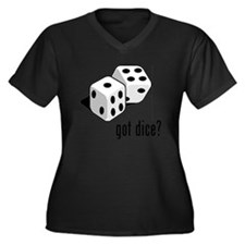 got dice (with picture) Women's Plus Size V-Neck D