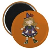 Happy Halloween Witch Magnet