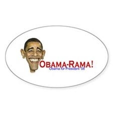 Obama-Rama! Oval Decal