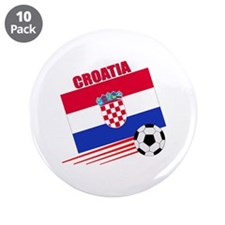 "Croatia Soccer Team 3.5"" Button (10 pack)"