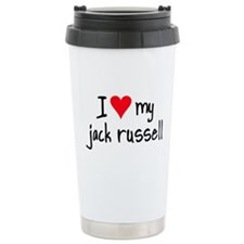 I LOVE MY Jack Russell Ceramic Travel Mug