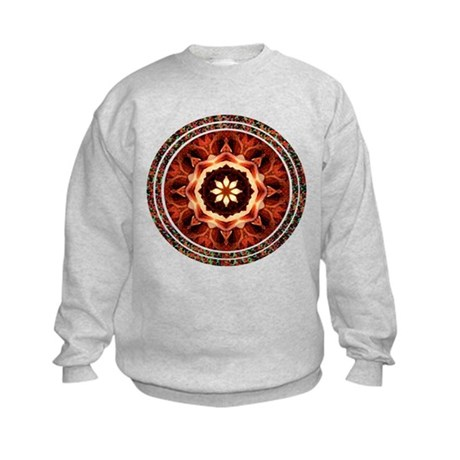 Kaleidoscope Rose Kids Sweatshirt