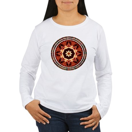 Kaleidoscope Rose Women's Long Sleeve T-Shirt