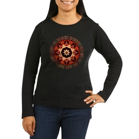 Kaleidoscope Rose Women's Long Sleeve Dark T-Shirt