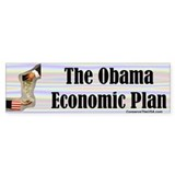 """Obama's Economic Plan"" Bumper Bumper Sticker"