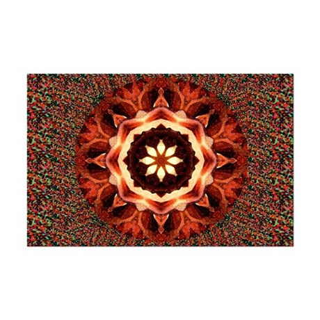 Kaleidoscope Rose Mini Poster Print