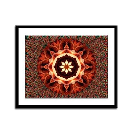 Kaleidoscope Rose Framed Panel Print