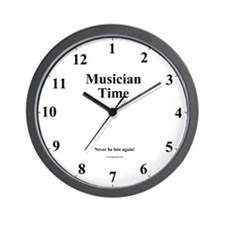 "Musician ""Sorry I'm Late"" Wall Clock"