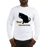 """Yea, I'm Cat'Lick"" Long Sleeve T-Shirt"