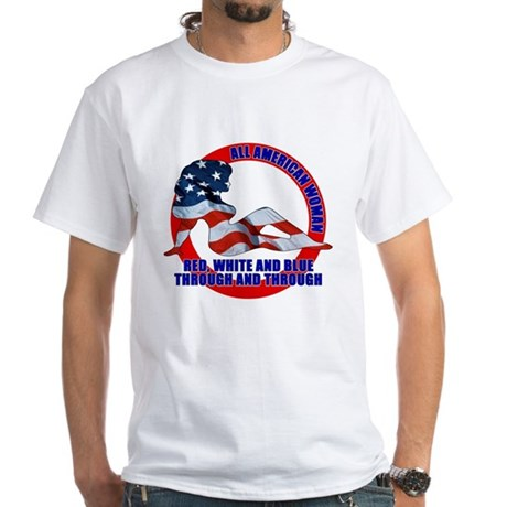 All American Woman White T-Shirt