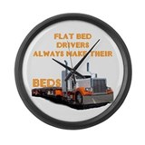 Flat Bed Drivers Large Wall Clock