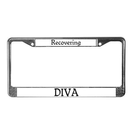 Recovering Diva License Plate Frame
