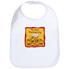 1st Thanksgiving Pumpkins Bib