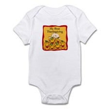 1st Thanksgiving Pumpkins Infant Bodysuit