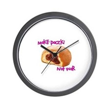 make paczki not war Wall Clock