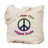 Hippie Dude 90th Birthday Tote Bag