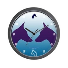 Sky Blue Doberman Wall Clock