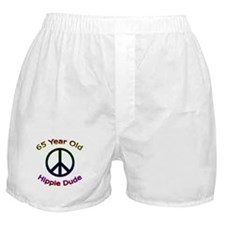 Hippie Dude 65th Birthday Boxer Shorts