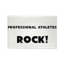 Professional Athletes ROCK Rectangle Magnet