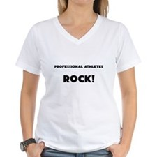Professional Athletes ROCK Women's V-Neck T-Shirt