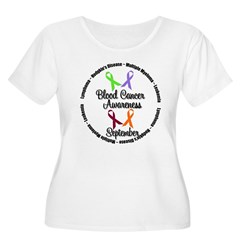 Blood Cancer Women's Plus Size Scoop Neck T-Shirt
